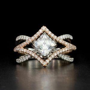 925 Silver  White Sapphire Size 6 NEW